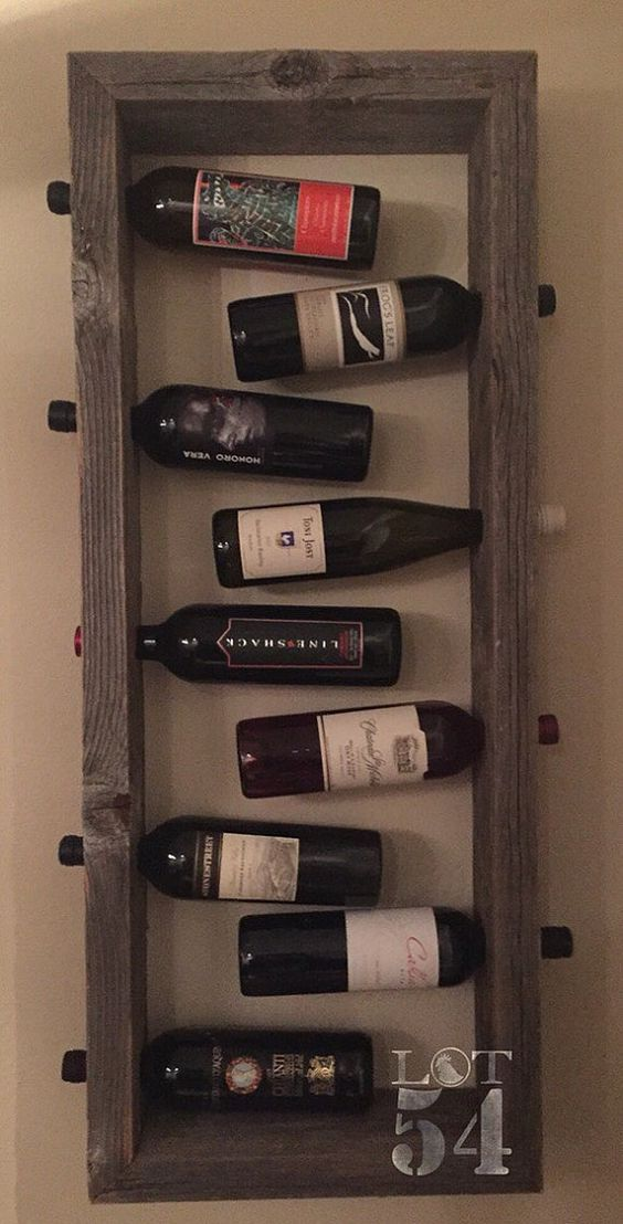 Hanging Wine Rack Wall Decor Etsy Hanging Wine Rack Wine Rack Wall Wine Rack