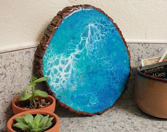 how to make resin art on wood