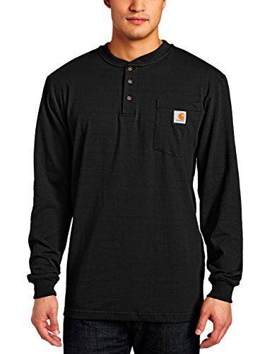 Carhartt Men S Workwear Pocket Henley Shirt Regular And Big Tall Sizes Shopiiq In 2020 Mens Workwear Carhartt Mens Outfit Accessories