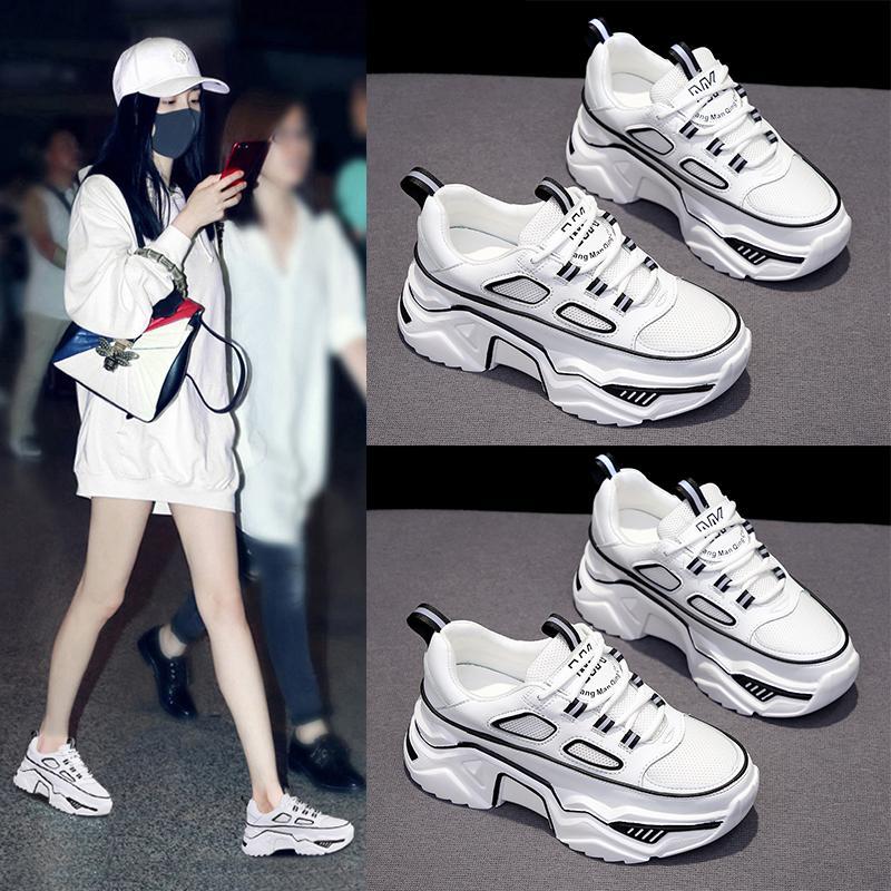 Women Chunky Sneakers Fashion Light