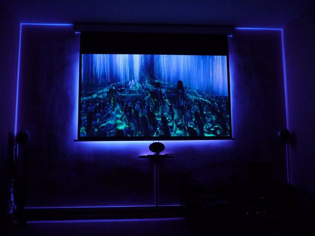 3d Fall Ceiling Wallpaper Four Steps To Build An Ambilight For Projector Screen