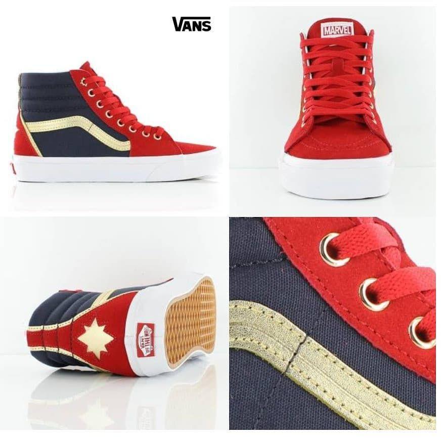 1c98f990925  captainmarvel SK8-HI  sneakers  kicks  shoes by  Vans  Marvel  Geek  Comics