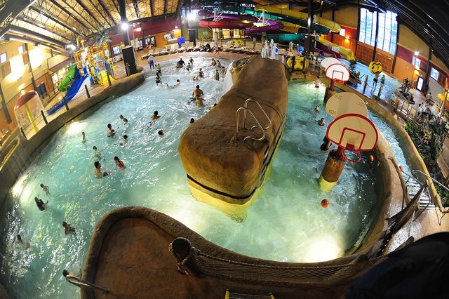 Wave Pool At Kahuna Laguna Indoor Water Park North Conway Nh