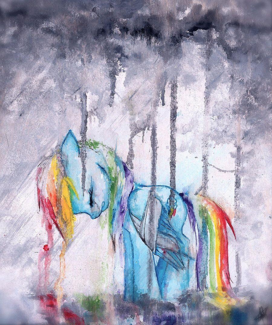 Девизом, радуга рисунок акварелью