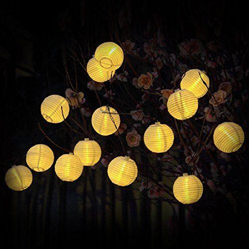 koiiko 15 7 M 20 LED Guirlande Lumineuse Solaire Lanterne Boule