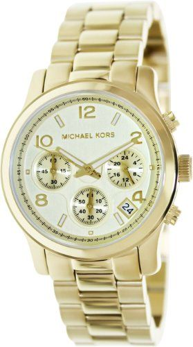 68ece9d1861a Michael Kors Midsized Chronograph Gold Tone Womens Watch MK5055 Michael Kors