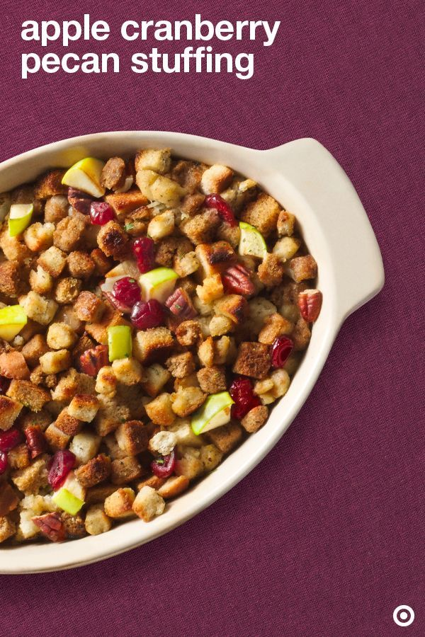 Apple, Cranberry & Pecan Stuffing | Recipe | Best Christmas side ...