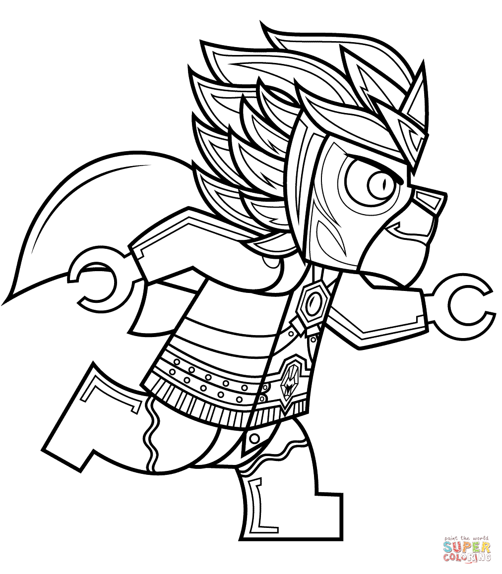 Lego Chima Laval Super Coloring With Images Ninjago Coloring Pages Coloring Pages Lego Coloring