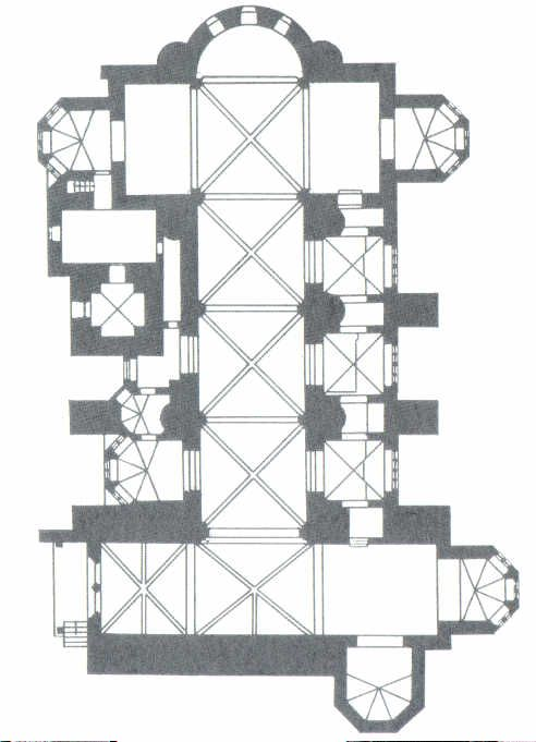 Gothic Italy Plan Of The Lower Church At Assisi It Is A Synthesis Of The Romanesque And Gothic Styles And Established Many Of The Typical Characteristics O