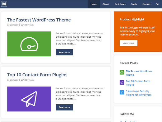 WordPress blogging themes