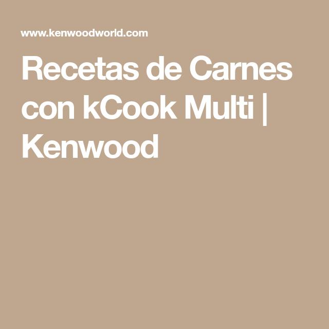 Recetas De Carnes Con Kcook Multi Kenwood Magro De Cerdo