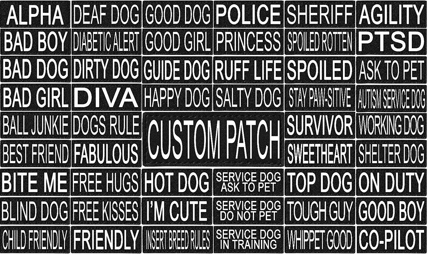 101 Outlets Personalized Velcro Removable Patch Label Tag For Dog