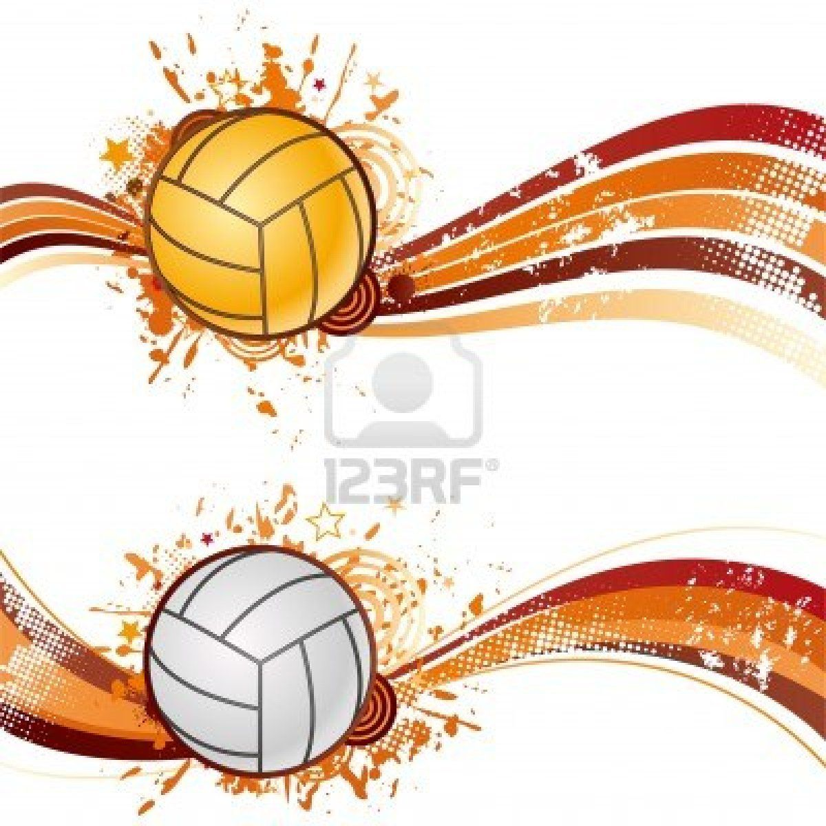 Volleyball Sport Design Element Volleyball Sports Design Volleyballs