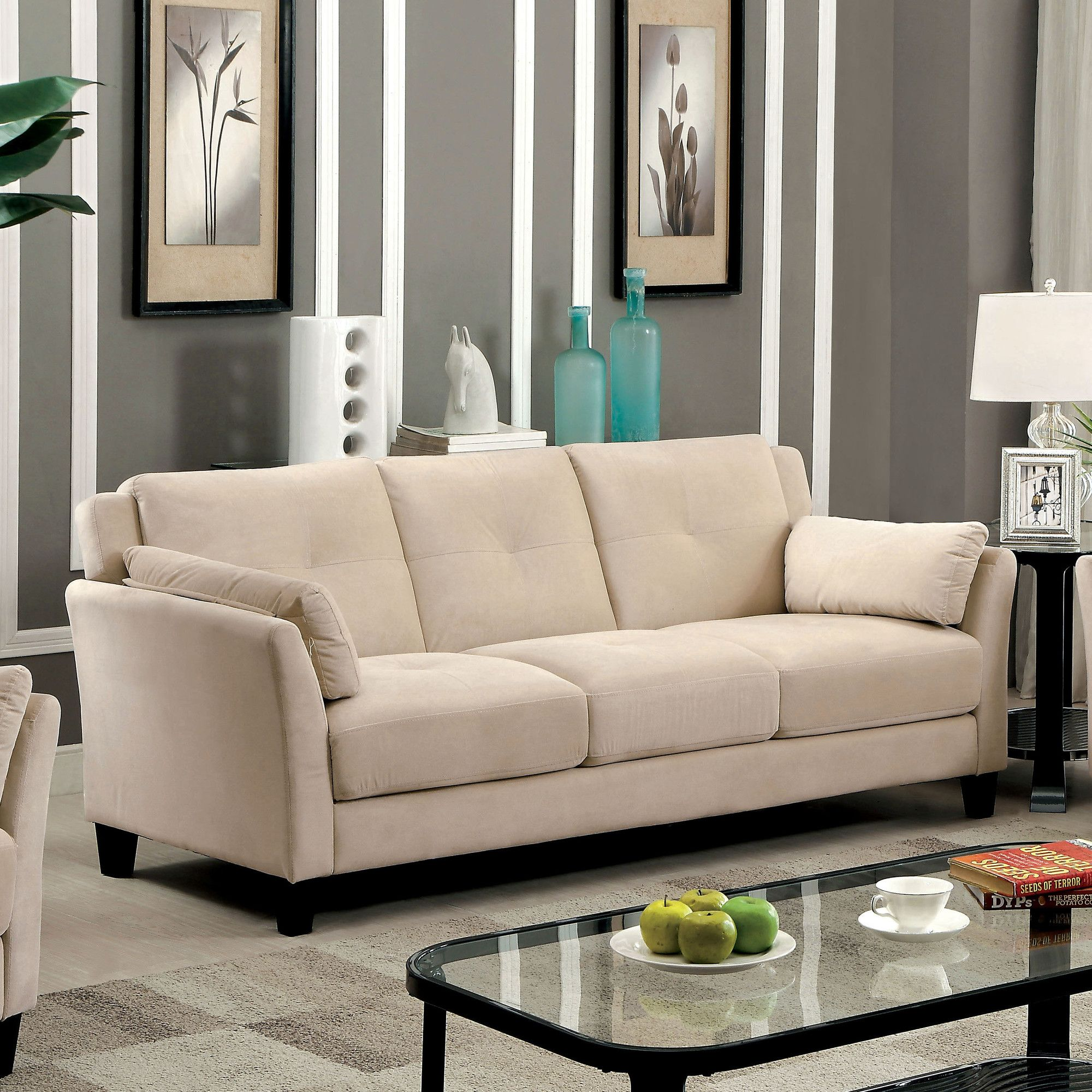 Chandeleur Contemporary Tufted Sofa