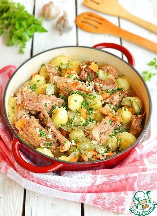 Домашнее жаркое с ребрышками и картофелем - кулинарный ...