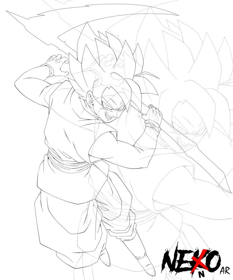 bLaCk GoKu SuPeR sAiYaN rOsE lInEaRt by NekoAR | Dragon Ball Z ...