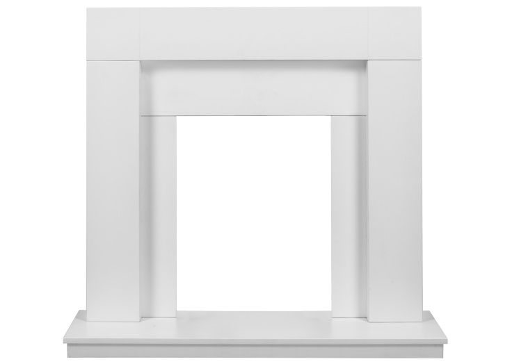 Adam Malmo Fireplace in Pure White and Black/White, 39 Inch #purewhite