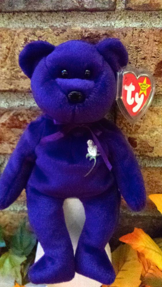 Ty Beanie Baby Princess Diana Bear 4300 1997 Pe Pellet Mwmt Mint