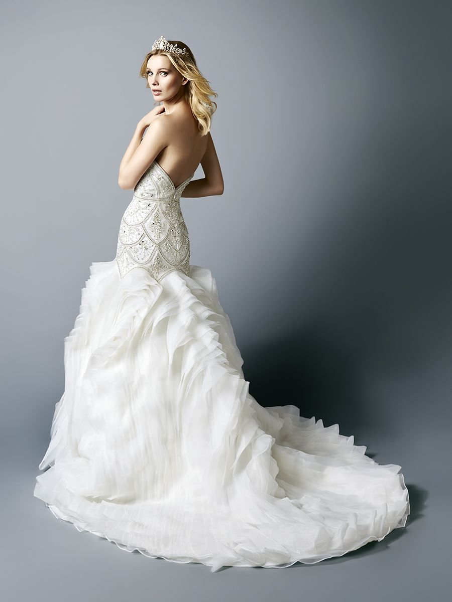 Blouson wedding dress  Style MADISON  Wedding dress Beaded wedding gowns and Bridal gowns