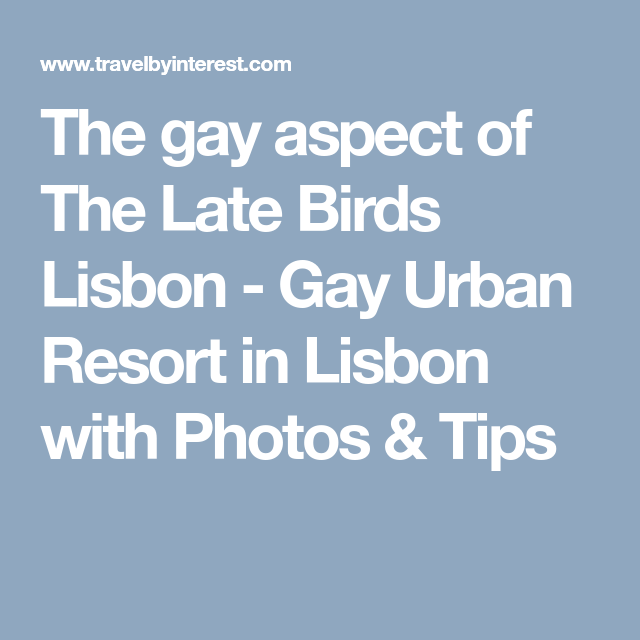 The gay aspect of The Late Birds Lisbon Gay Urban Resort in Lisbon