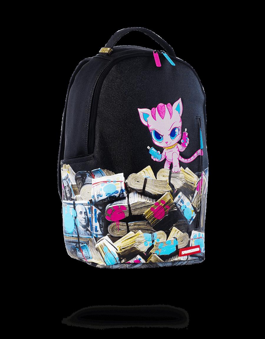 Sprayground Kitten Money Stacks Saweetie Collaboration Backpack Sprayground Bags Backpacks