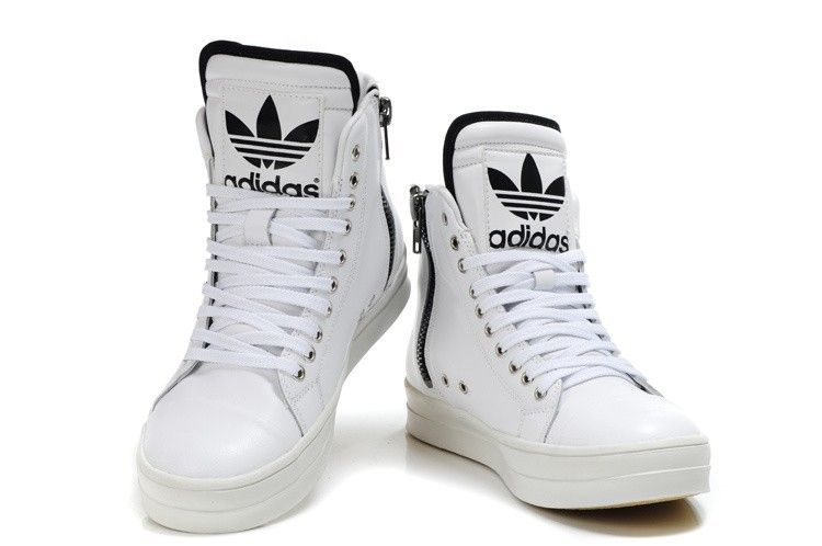 Herren Adidas Originals Hoch Big Tongue Zipper Weiß Leder