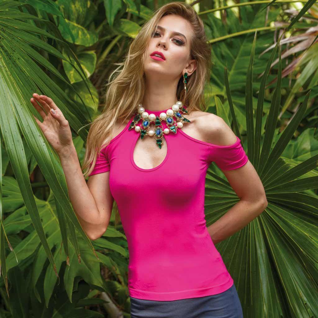 Blusa para dama daly color bugambilia 518527 | Blusas para dama ...