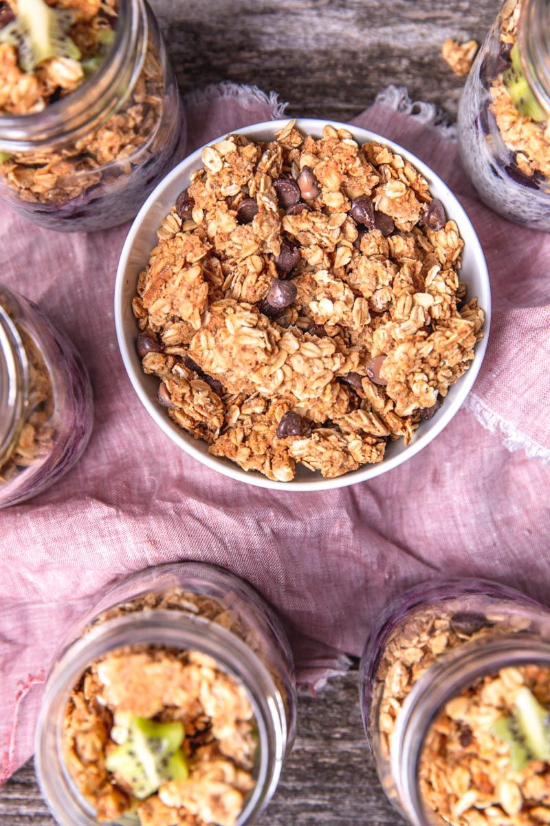 Make Ahead Chia Pudding Parfaits With Peanut Butter
