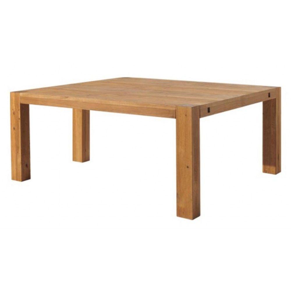 Table manger carr e moderne 140 240cm ch ne huil ocelle - Table a manger carree ...