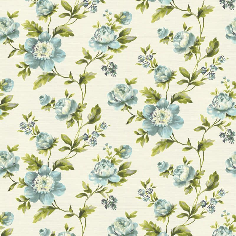 Freundin Ditsy Floral Blue Cream Wallpaper Specially Designed To Inject Some Colour Into Your Home This Season This Eye Catching Wallpaper Papeis De Parede