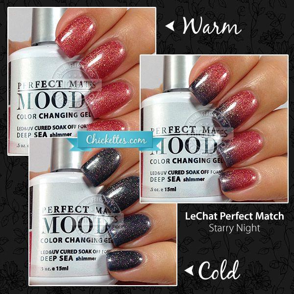 LeChat Perfect Match Mood Gel Polish - Deep Sea | Pretty nails ...