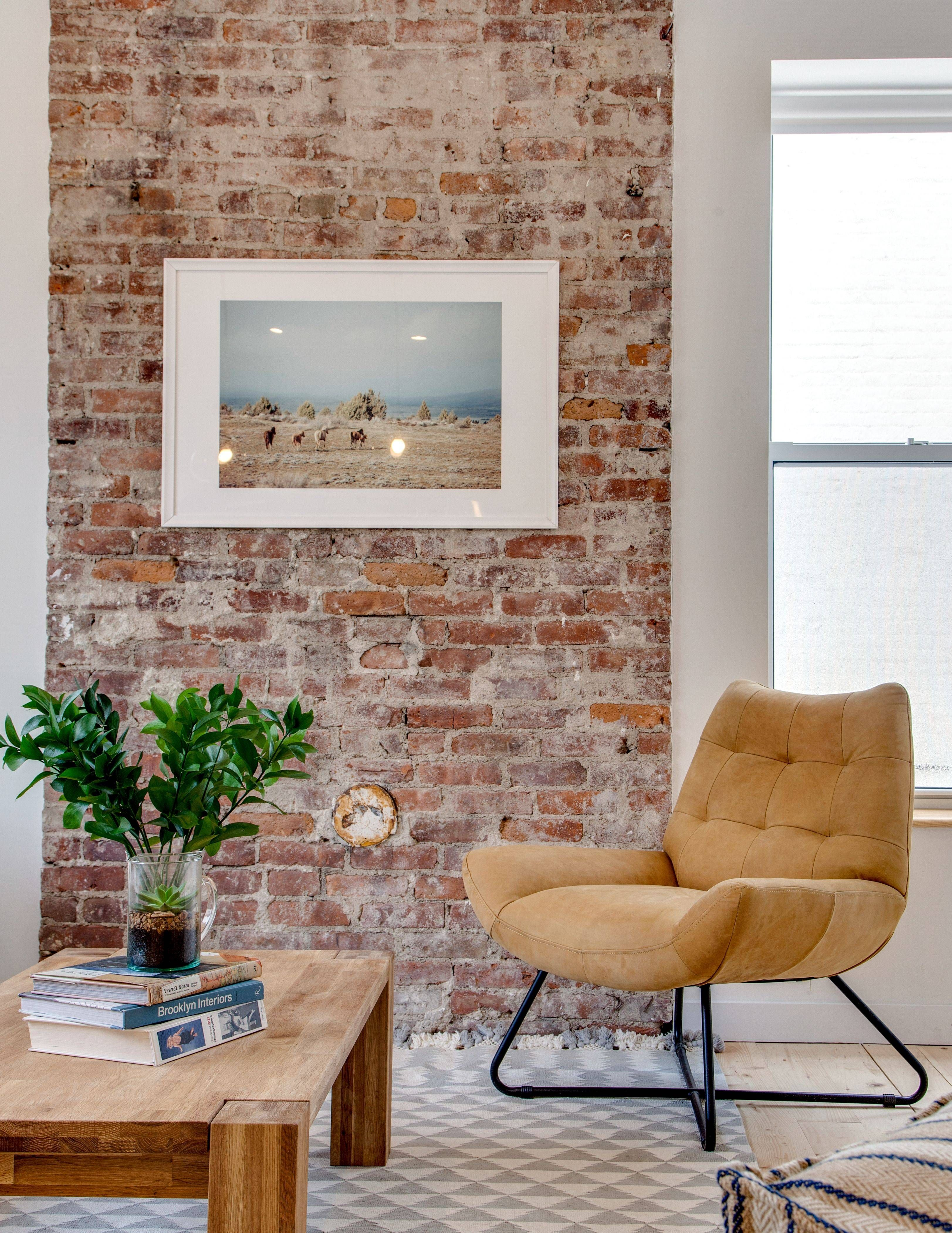 Small Living Room Apartment Therapy: Exposed Brick Apartment Decor