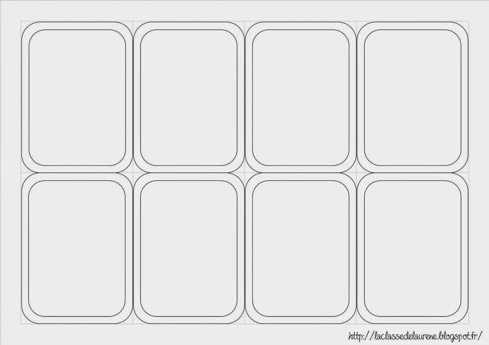 jeu de carte vierge Super Imagier (avec images) | Carte de jeux à imprimer, Carte