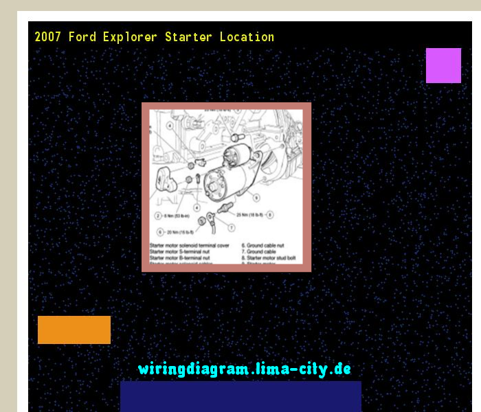 2007 Ford Explorer Starter Location  Wiring Diagram 174647
