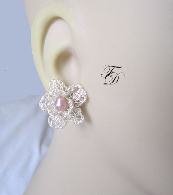 25 off holiday saleSterling silver Flower Ear by FIIRsDESIGNS, $45.00