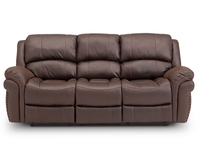 Sofas-Winfield Sofa-Recliner with leather-like style | Livingroom ...