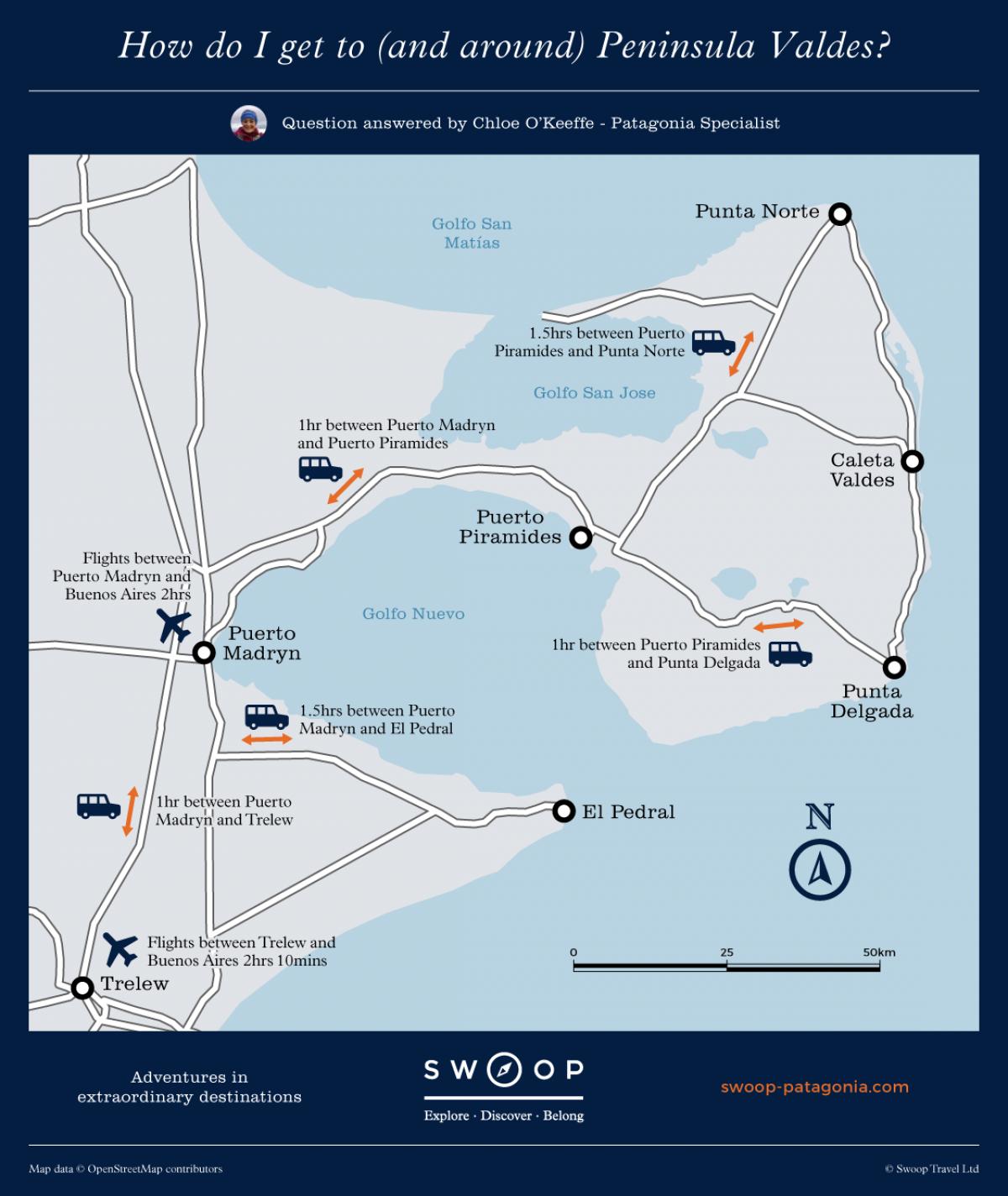 Valdes Peninsula Map