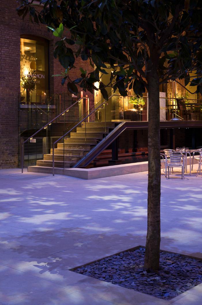 Amber And Blue 01 Landscape Lighting Design Exterior Lighting Design Urban Lighting