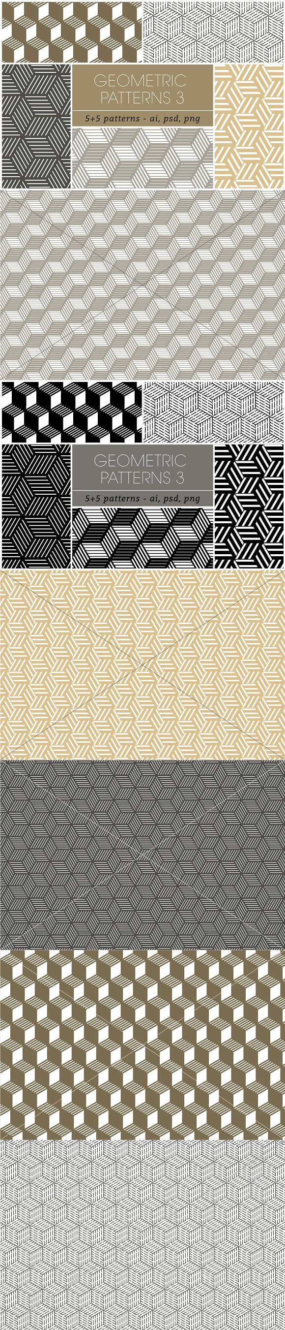 Seamless Geometric Patterns 3. Patterns