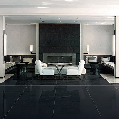 This Modern Lounge Features Our Mono Traffic Black Ultra Thin
