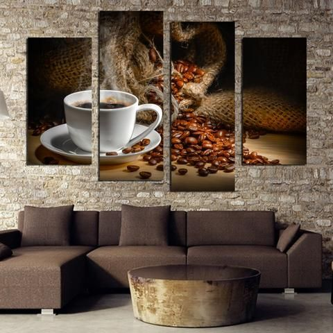 Coffee Tropical Barista Food Kitchen SINGLE CANVAS WALL ART Picture Print