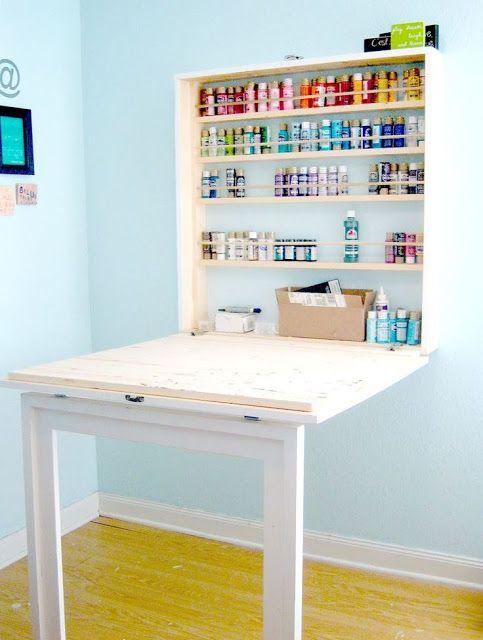 Escrivaninhas Dobraveis Diy Casa Mesas De Artesanato Projetos