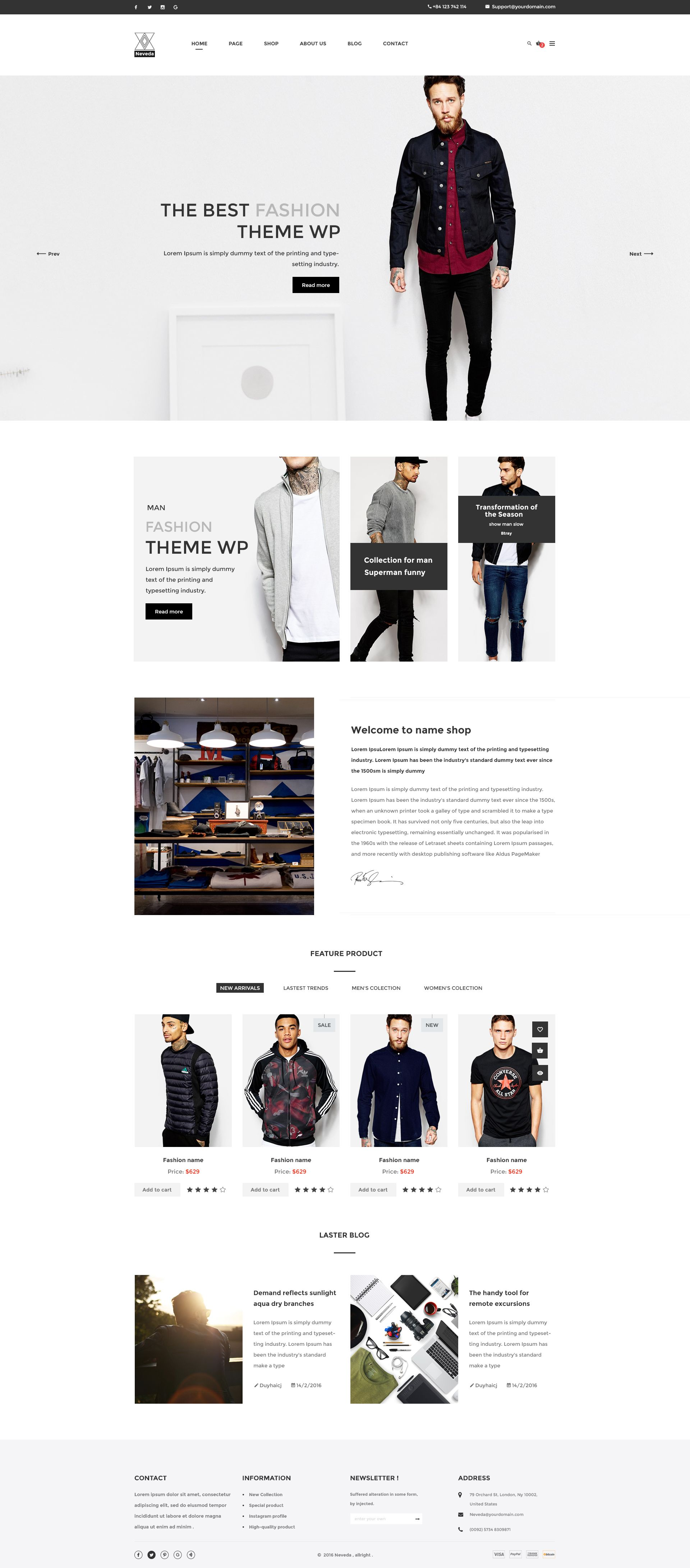 ec3301f5432f Neveda can be seen as a perfect PSD eCommerce template to start your own fashion  store website for your clients. #creative, #ecommerce, #FashionShop ...