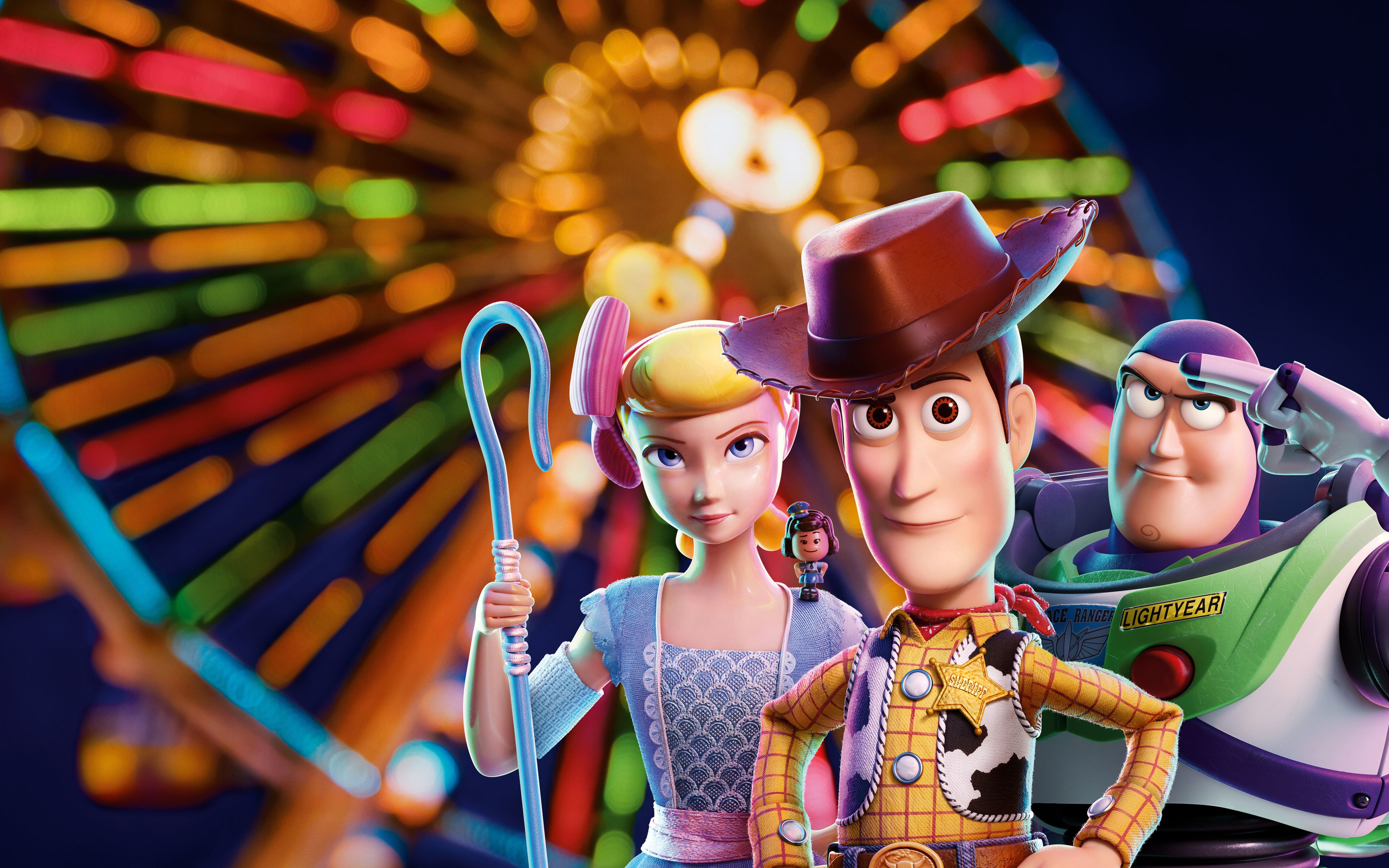 3840x2400 Toy Story 4 Bo Peep Woody Buzz Lightyear Movie Wallpaper