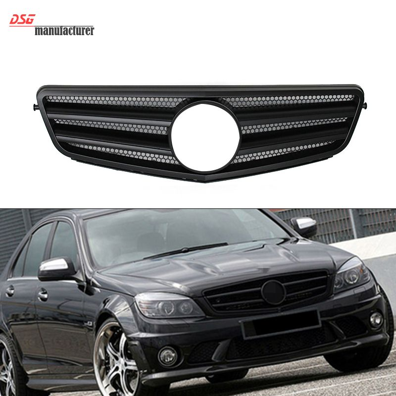 Stylish Abs Mercedes W204 Bumper Grill Grille Replacement For 2007