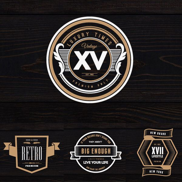 Free Psd Vintage Logos And Badges  Free Stuff    Psd