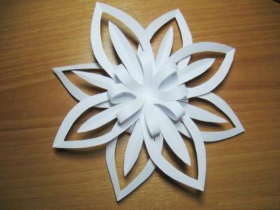 3d schneeflocke aus papier basteln dekoking com 8 basteln pinterest. Black Bedroom Furniture Sets. Home Design Ideas