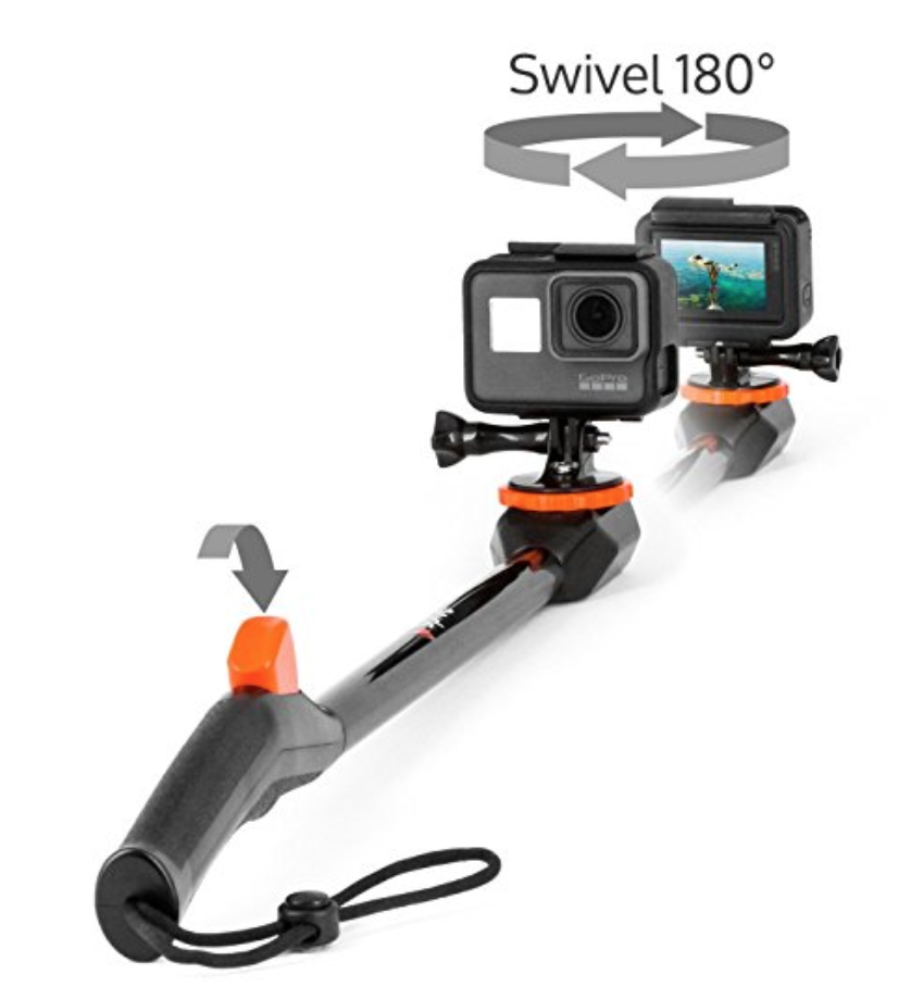 Spivo 360 Waterproof Swivel Selfie Stick For Gopro Gopro Accessories Best Gopro Camera Gopro