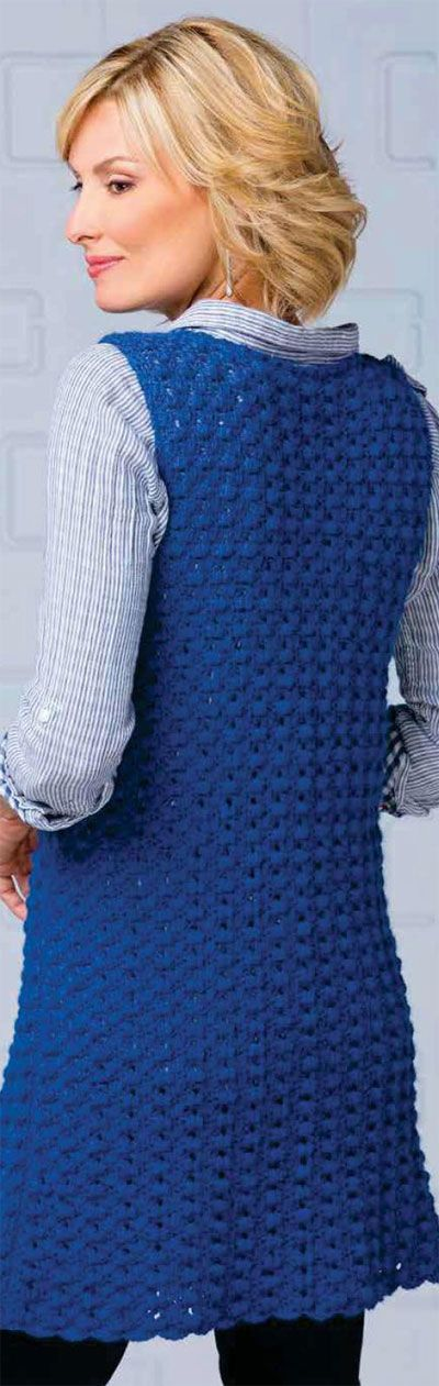 Womens sleeveless jacket crochet pattern free Knit ...