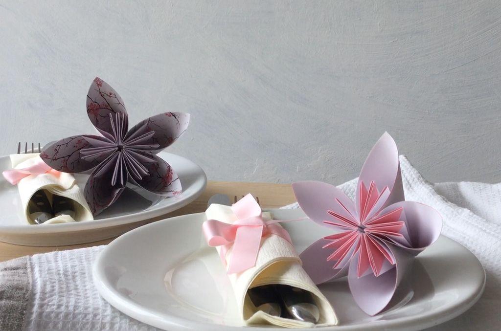 anleitungsvideo origami bl ten basteln mein sch nes land bloggt kreativ ideen pinterest. Black Bedroom Furniture Sets. Home Design Ideas